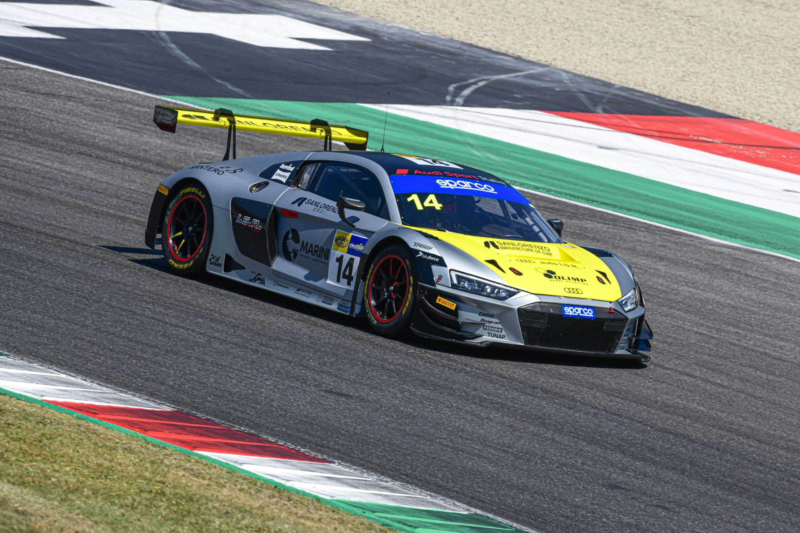 Filip Salaquarda-Karol Basz-Vito Postiglione, Audi R8 LMS #14, Audi Sport Italia